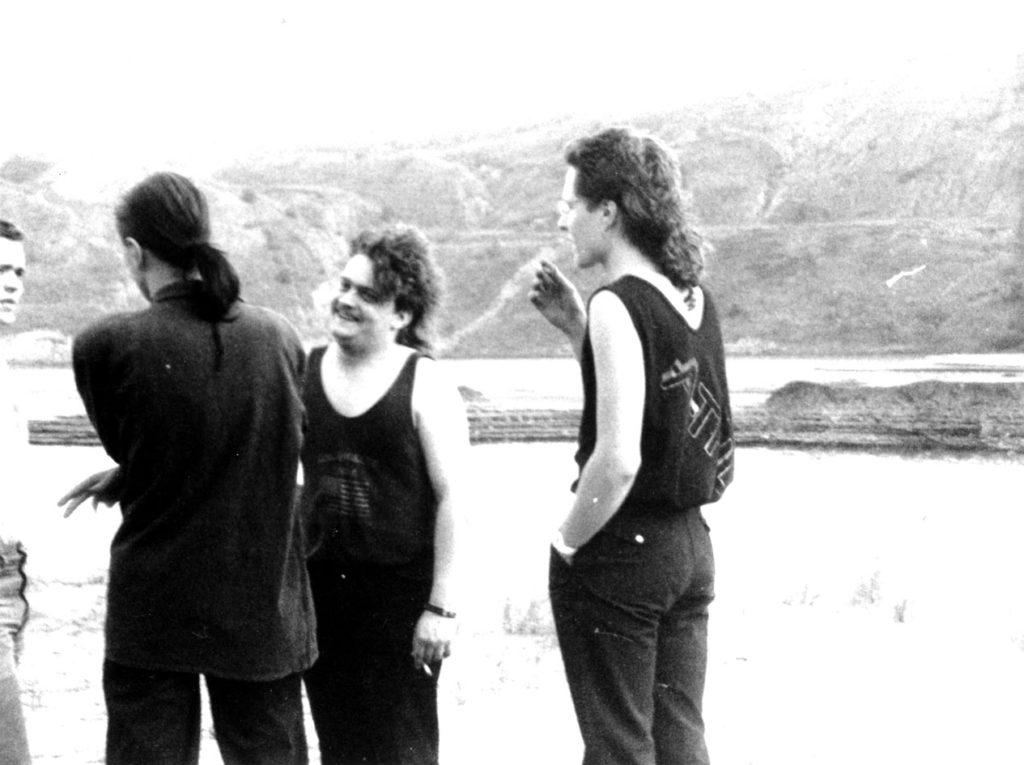 The Real Deal bei einer Fotosession in einem ehemaligen Tagebau (Leipzig, Sommer 1988)