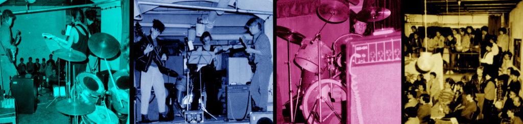 """Einer der ersten öffentlichen Auftritte: """"Reininghaus"""" live in einem Kirchenkeller (Leipzig im Februar 1987)."""