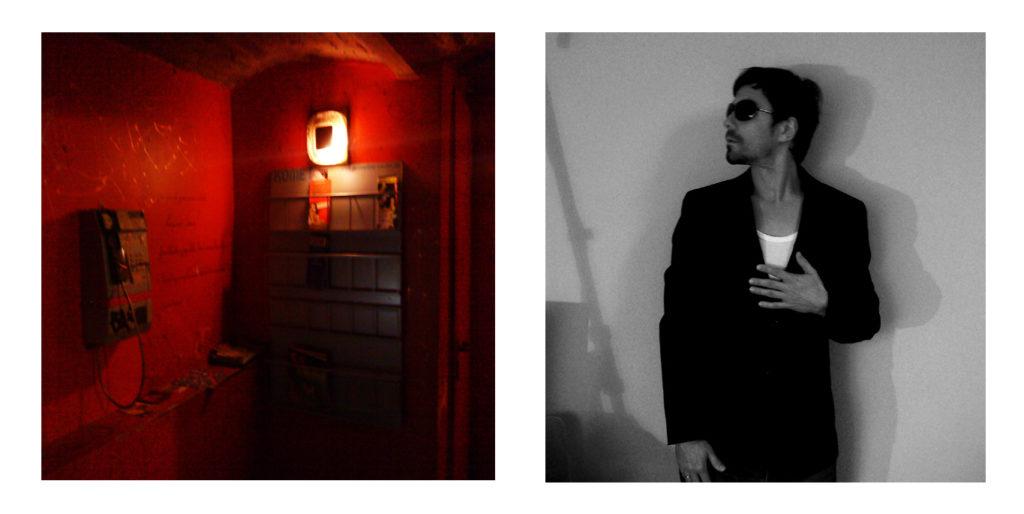 """Fotos für die Rückseite des Albumcovers zu """"Between Platform And Train"""