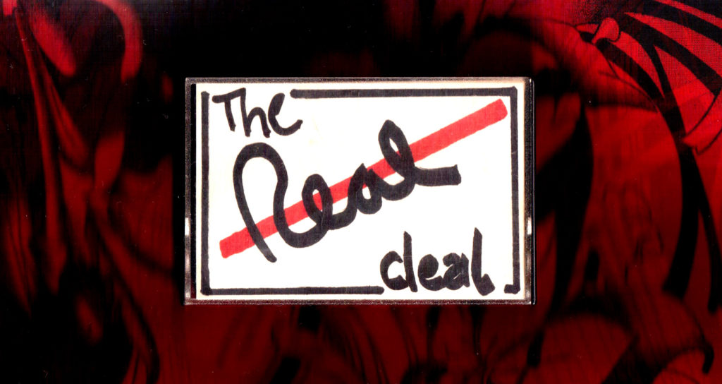 The Real Deal Tape 1 Cover Skizze (c) Kai Reininghaus 1987