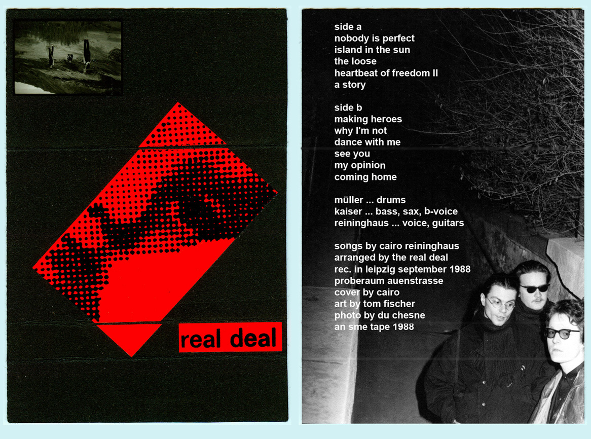 "Das Cover zum Tape ""Nobody Is Perfect"" der Leipziger Band The Real Deal (1988)"